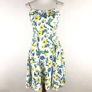 Old Navy White Blue Floral Bird Print Sundress XS